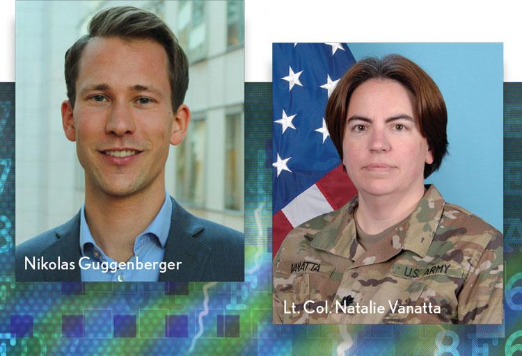 Nikolas Guggenberger and Lt. Col. Natalie Vanatta