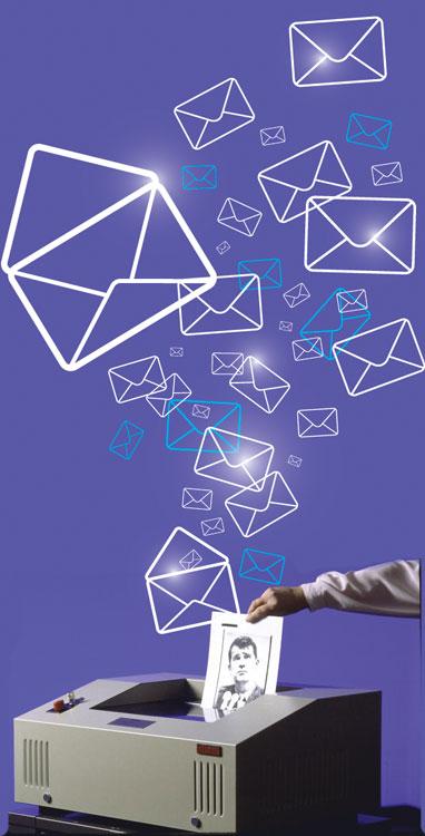 emails getting shredded