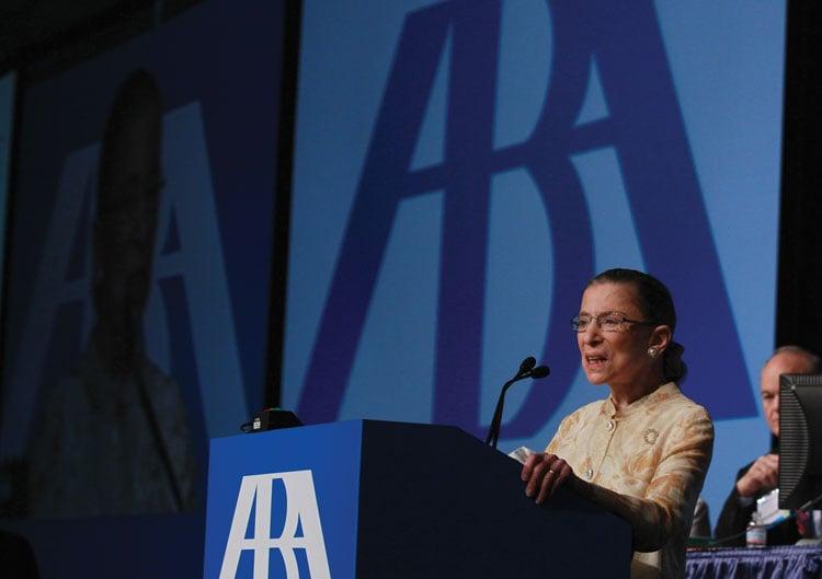 Ruth Bader Ginsberg speaks at ABA Annual Meeting