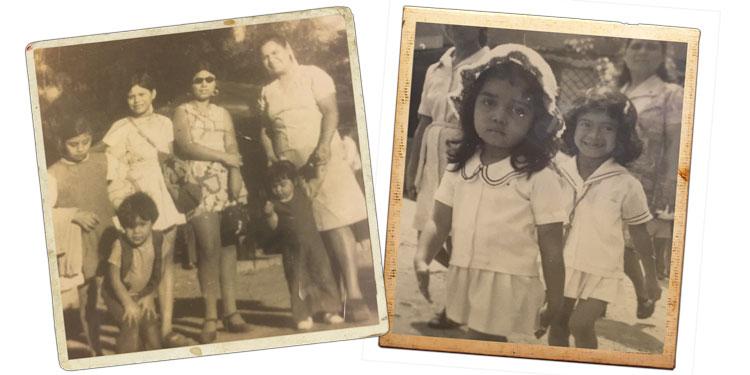 Raquel Aldana as a child