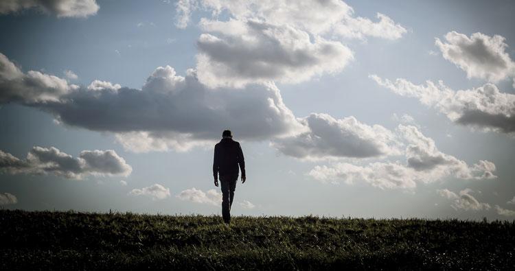 Walking near sunshine