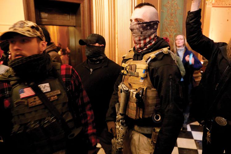 Militia at Lansing Courthouse
