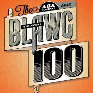 2012 ABA Blawg100 Honoree