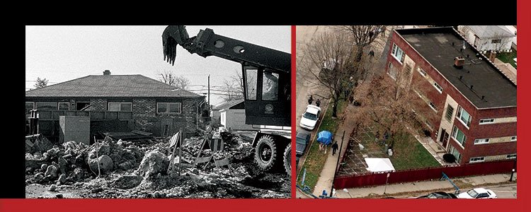 demolition of Gacy's home