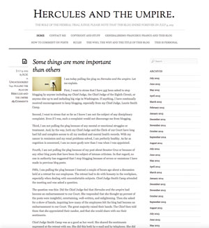 Hercules and the Umpire Blog