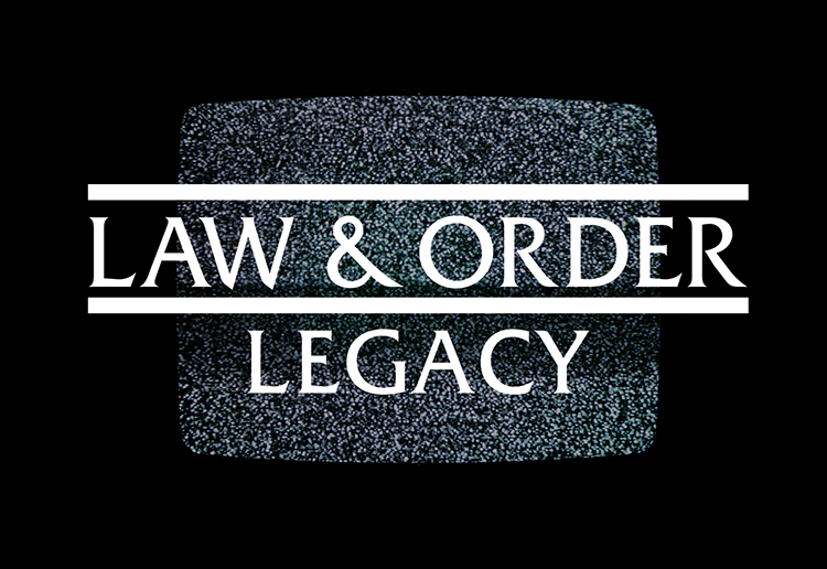 TV Screen with Law & Order on it