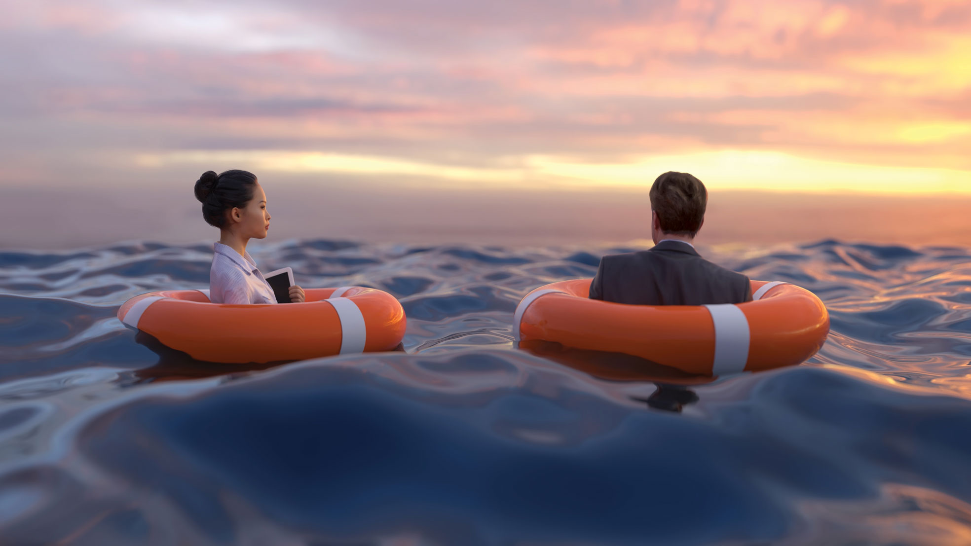 lawyers in life preservers