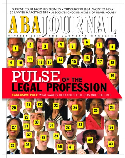 Cover of the October Issue: Photos of 43 Lawyers