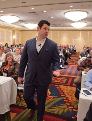 Man speaking at conference