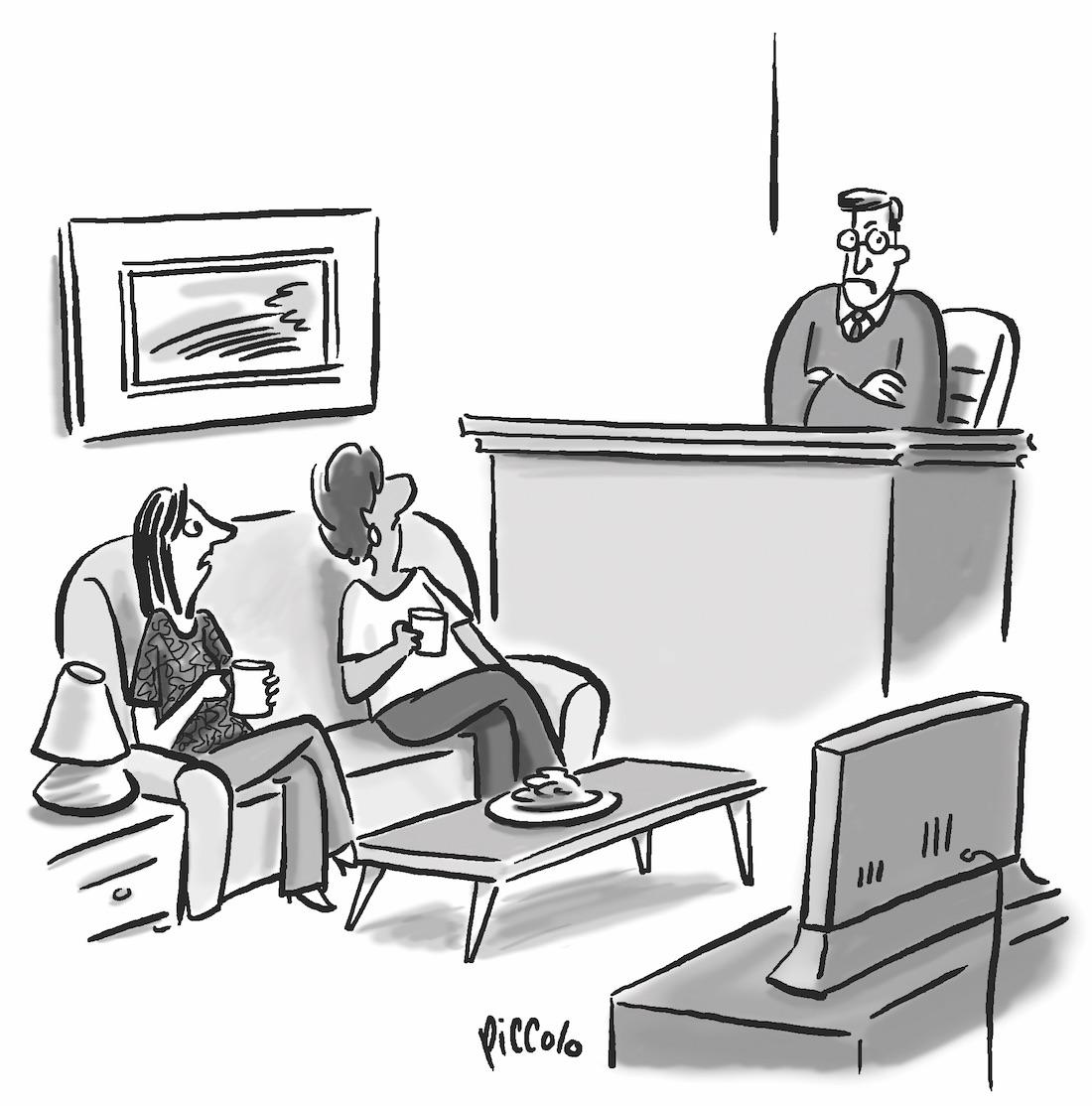 Cartoon Caption What S The Home Court Advantage