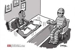 Mummy in law office