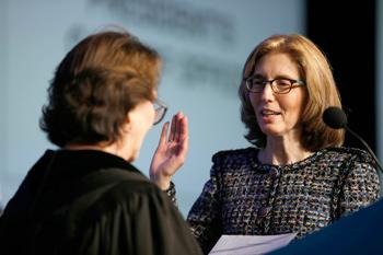 Klein is sworn in