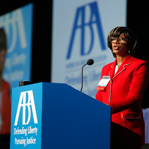 Paulette Brown addresses the ABA House of Delegates