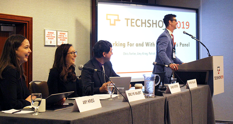 Panel speaks at Techshow