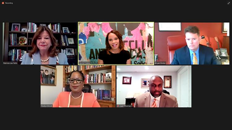 Group of panelists on a Zoom call