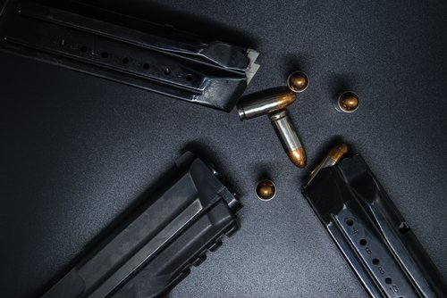bullets and gun magazines