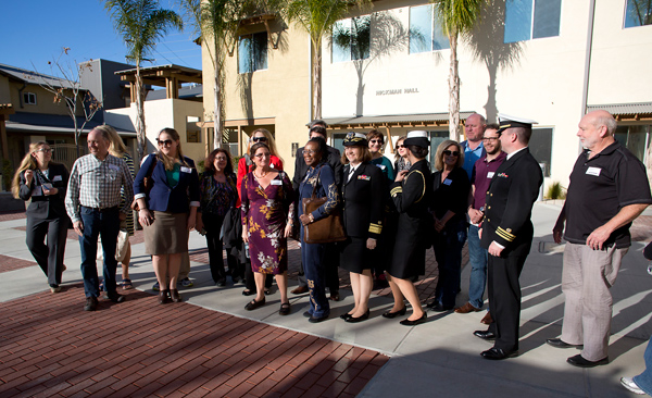 ABA members stand for group shot at Veterans Village