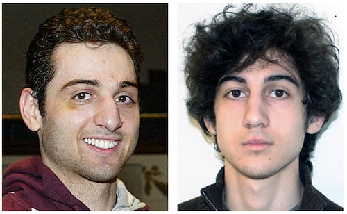AP Photo Boston bombers brothers