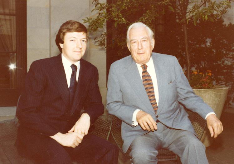 Carter Phillips with Chief Justice Warren Burger