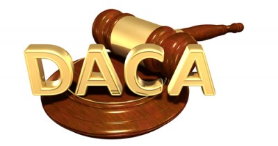 DACA words and gavel