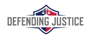 Defending Justice shield logo.