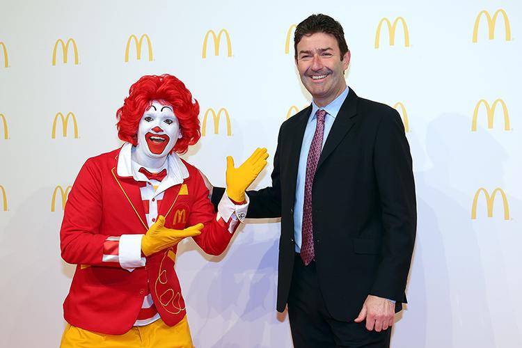 Ronald McDonald and Stephen Easterbrook