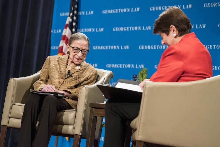 Ruth Bader Ginsburg at Georgetown Law