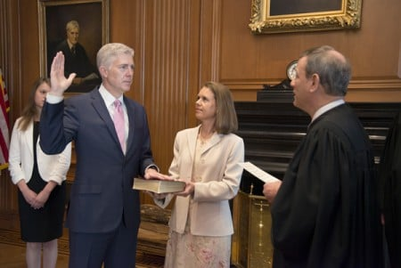 Gorsuch is sworn in