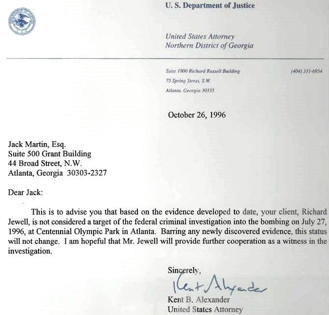 Jewell letter