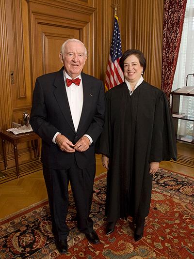John Paul Stevens and Elena Kagan.