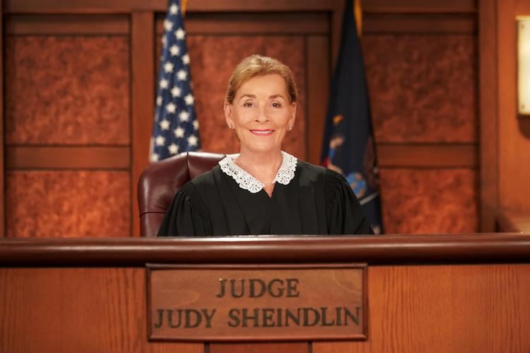 Judge Judy on the bench
