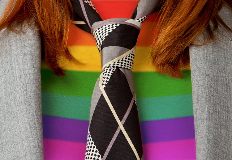 lgbt flag and tie