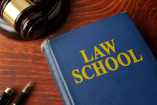 law school book and gavel