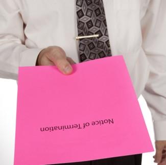 pink slip in hand