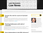 Lyle Denniston Law News