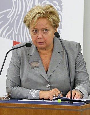 Malgorzata Gersdorf at microphone.