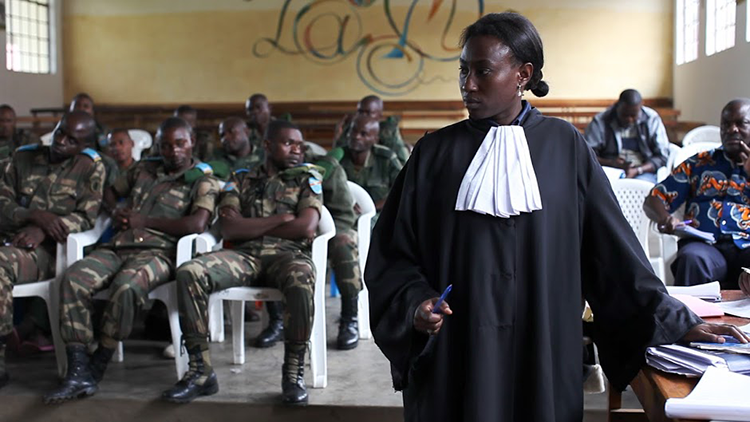 Mireille Kahatwa Amani appears before the military tribunal