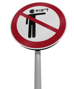 Image of no cursing sign