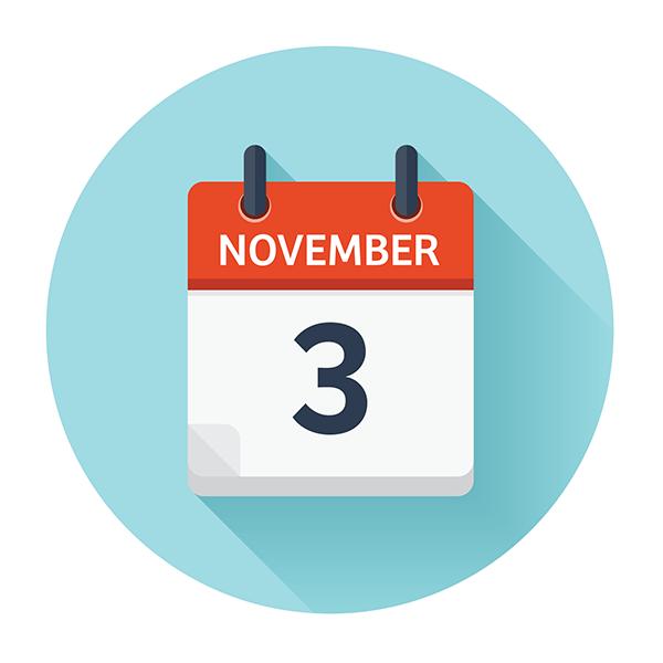 November 3 calendar page
