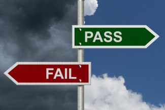 Pass and Fail signs