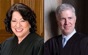 Sonia Sotomayor and Neil M. Gorsuch