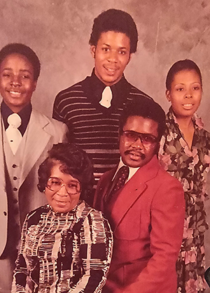 Steve Price and his family as a young man