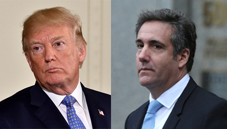 Donald Trump says Michael Cohen lied about not seeking pardon