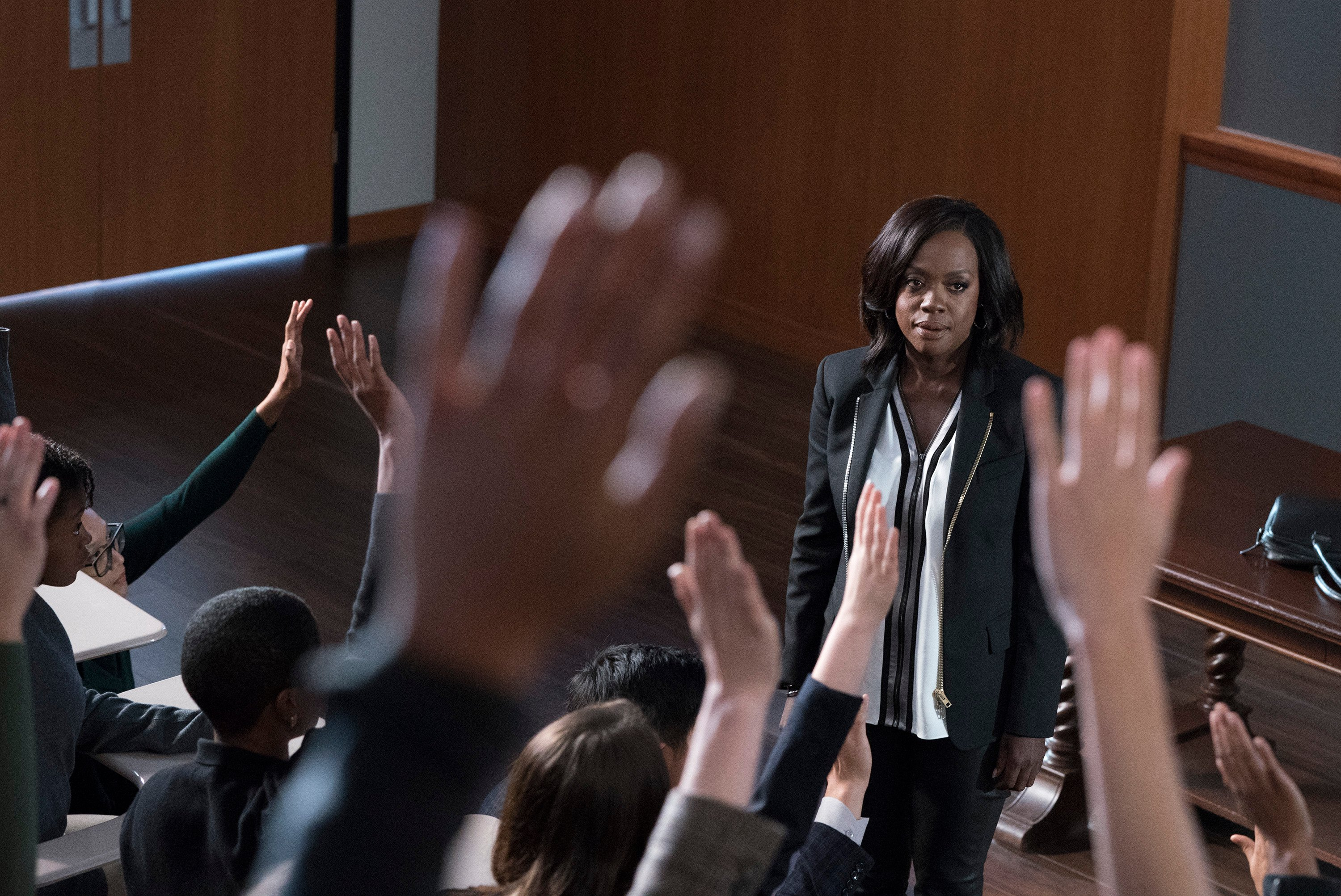 TV Moments, The end of the series with the same shots and dialogues it started with in How to Get Away with Murder. Except the professor changed from Annalise to Christopher.