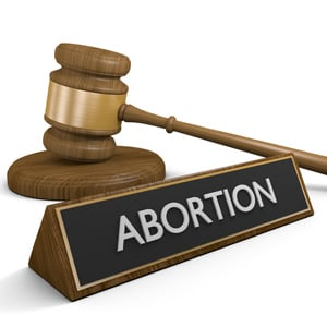 abortion and gavel