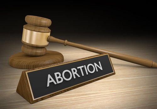 abortion words and gavel