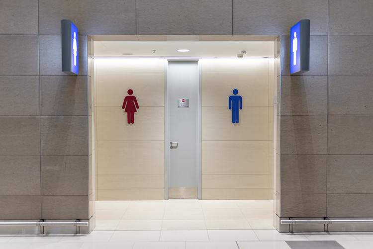 two bathrooms