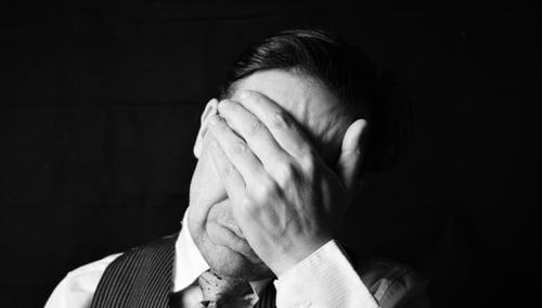 businessman depressed