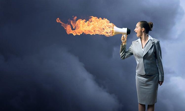 businesswoman anger