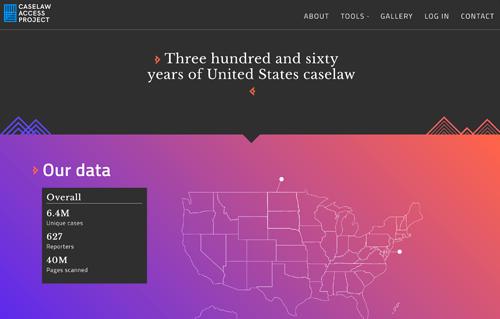 Caselaw Access Project screenshot